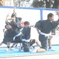 大河ドラマ館で、鹿児島実業男子新体操部が演技披露!