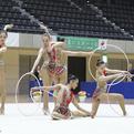 日本女子体育大学、アジア新体操選手権に向け、準備万端!
