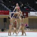 第70回全日本インカレ女子団体「フープ×5」1位/日本女子体育大学