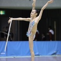 第71回全日本新体操選手権女子個人総合前半種目首位
