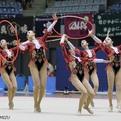 第71回全日本新体操選手権女子団体総合前半種目首位